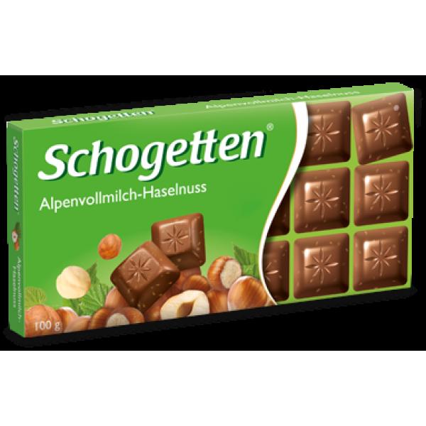 Шоколад Schogetten Alpine Milk Hazelnuts с фундуком (Шогеттен), 100 гр