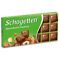 Шоколад Schogetten Alpine Milk Hazelnuts с фундуком (Шогеттен), 100 гр, фото 1
