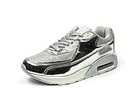 Детская спортивная обувь кроссовки р.32-37 Clibee:K-152 Серебро
