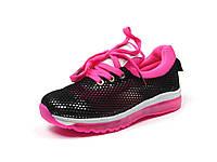 Детская спортивная обувь кроссовки р.31-36 Clibee:K-154 Черный+Малиновый