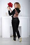 Женский велюровый спортивный костюм, разм 42,44,46,48, фото 3