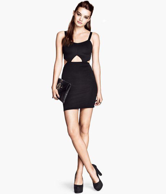 Облегающее платье с вырезами H&M