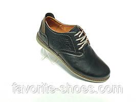 Кожаные мужские туфли конфорт Levis размер.