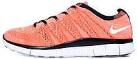 Мужские кроссовки Nike Free Flyknit NSW (найк фри ран флайнит) оранжевые