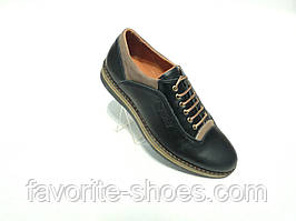 Кожаные мужские туфли конфорт RICCONE
