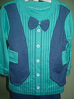 Нарядный костюм с бабочкой на 3-6мес