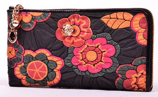 Кошелек-клатч  809 (цветы) купить интернет магазин