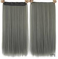 Прядь волос на заколках серая