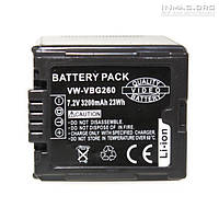 Аккумулятор для видеокамеры Panasonic VW-VBG260, 3200 mAh.