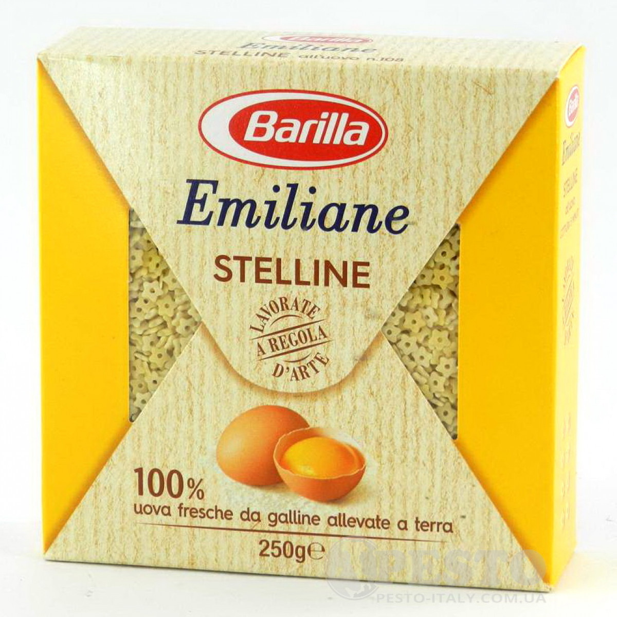 Макароны твердых сортов Barilla Stelline «Emiliane», на желтках 250 гр.