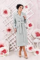 Женское  демисезонное бледно-бирюзовое  пальто  В-983 Тон 2   44,48,52,54 размер