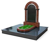 "Памятник из гранита на могилу ""Красная арка"""