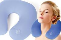 Подушка-подголовник массажная Neck Massage Cushion, вибро-подголовник, антистрессовая подушка, вибромассажер
