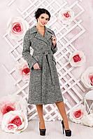 Женское  демисезонное темно-серое  пальто    В-983 Тон 11   44-54 размер