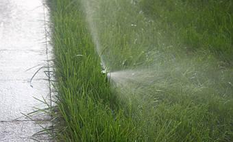 Система автоматического полива на Русановских садах 9