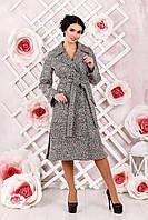 Женское  демисезонное серое  пальто В-983 Тон 1   42,44,48,50 размер