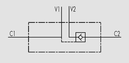 """Гидрозамок односторонний 50 л/мин, G 1/2"""", фото 2"""