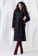 Женское  демисезонное черное  пальто   В-983 Genziana Тон 21  44-54 размер