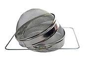 Двухсекционный фильтр Д-200 мм из белой пищевой жести выпуклый