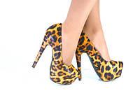 Туфли Christian Louboutin леопардовые на каблуке код 2176