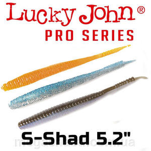 "Силикон Lucky John Pro Series S-SHAD 5.2"" (5шт)"