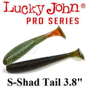 """Силикон Lucky John Pro Series S-SHAD TAIL 3.8"""" (5шт)"""
