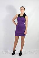 Платье Yiting  №885 фиолетовый с вставками  Артикул: 136678