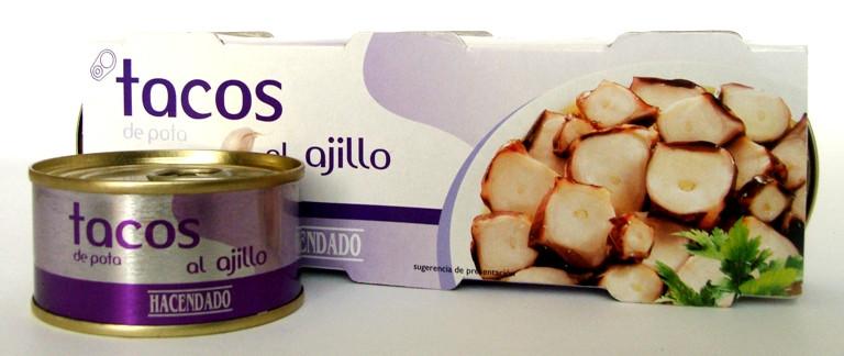 Осьминог в чесночном соусе Tacos al ajillo Hacendado, 240 гр.