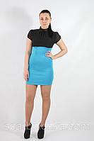 Платье Yiting №886 голубое с вставками  Артикул: 136683