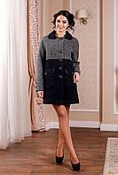 Стильное   демисезонное  пальто  В-1002 Mol Тон 25 44-62 размер