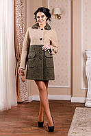 Стильное   демисезонное  пальто    В-1002 Mol Тон 45 44-62 размер