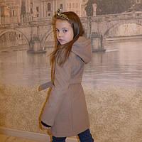 """Кашемировое пальто""""Косушка - малыш"""" капучино, 98-128 рост"""