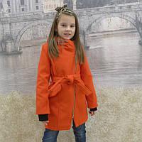 """Кашемировое пальто""""Косушка - малыш"""" красный, 98-128 рост"""