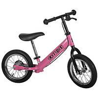 Детский беговел на резиновых колесах M 3040AB-2 Profi kids 12 дюймов (розовый)
