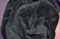 Чёрный чехол на кушетку 220*80 махра