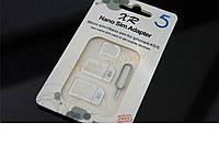 Адаптер Micro Sim переходник для микро сим 4 в 1