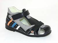 Босоножки сандалии ортопедические кожаные р.31,32,33,34,35,36 закрытые для мальчиков синие
