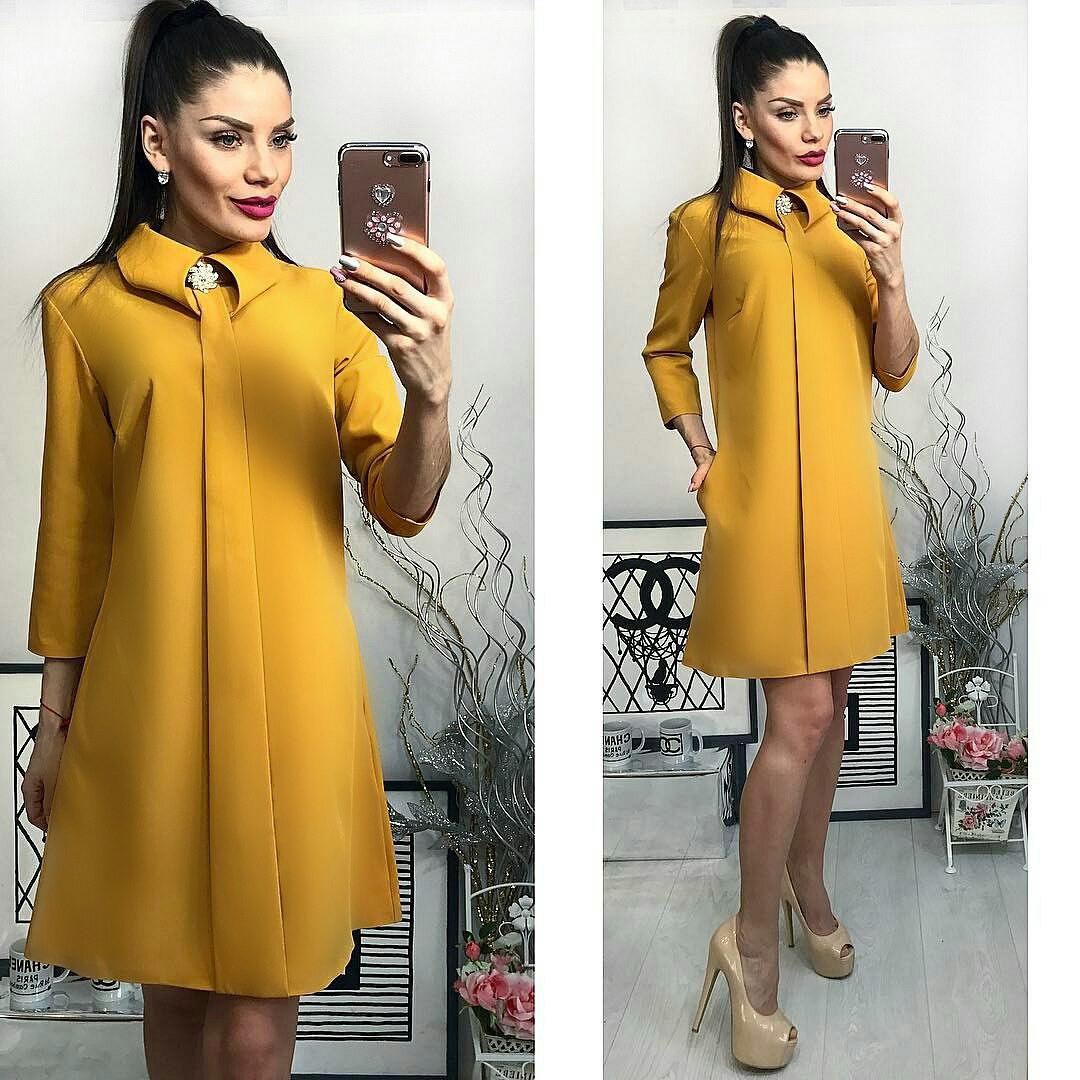 Платье женское, модель 770, горчица