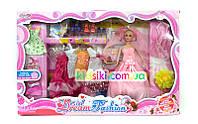 Набор кукла типа барби невеста с платьями