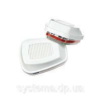 3M™ 6096 - фильтр для масок и полумасок, защита от газа и пара HGP3 (HgP3 - хлор и пары ртути), 1 шт.