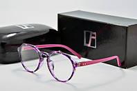 Оправа круглая Linda Farrow розовая с фиолетовым, фото 1