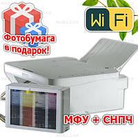 Полное решение: МФУ+ СНПЧ CANON MG2950 3 в 1 с Wi-Fi  принтер копир сканер Фотобумага и чернила в подарок