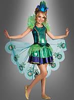 Детское маскарадное платье для образа павлина, феи или принцессы