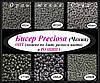 Бисер Preciosa чешский 50 г, 10/0, серый, графитовый