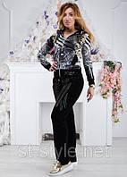 Велюровый женский спортивный костюм, размеры 42,44,46,48,50 , про-во Турция, фото 1
