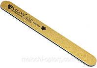 Пилка для ногтей Salon Professional 100/100, прямая, узкая, золото, фото 1