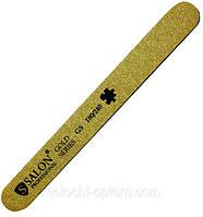 Пилка для ногтей Salon Professional 180/240, прямая, узкая, золото,, фото 1