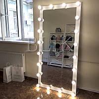 Ростовое зеркало Джулия (ЛДСП, 180х90, белый и черный), фото 1