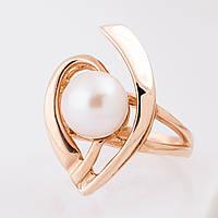 Женское золотое кольцо с жемчугом украина