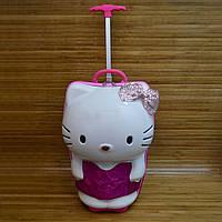 "Чемодан детский каркасный на колесах Hello Kitty (42х28 см) Серии "" TRAVEL "" усиленная"